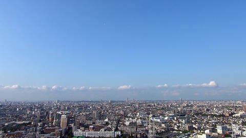 Panoramic landscape of the city with blue sky Footage