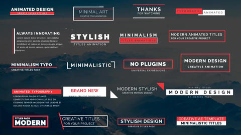 20 Animated Titles III After Effects Template