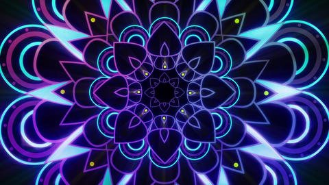 Glowing Purple Mandala Endless VJ Loop Animation