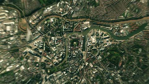4K Earth Zoom: Bristol – England Animation