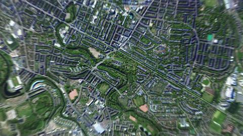 4K Earth Zoom: Glasgow – Scotland Animation