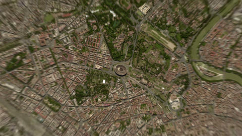 4K Earth Zoom: Rome – Italy Animation