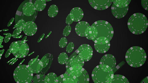 Animation of many casino chips Animation