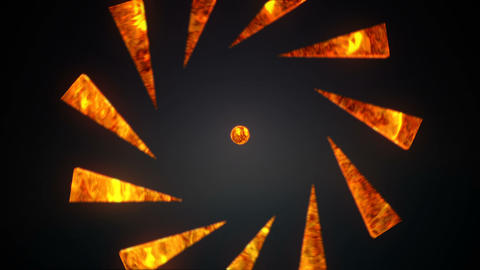 Abstract background with lava sphere Animation