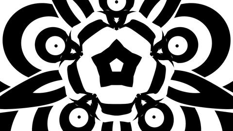Hypnotic black and white psychedelic morphing flower Animation