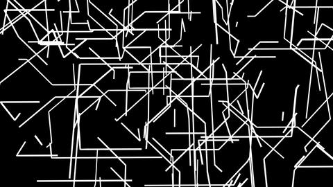 3D grid of black and white shooting lines Animation