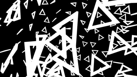 Rotating spinning black and white triangles growing and shrinking Animation