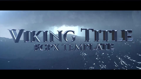Vikings Title Apple Motion Template