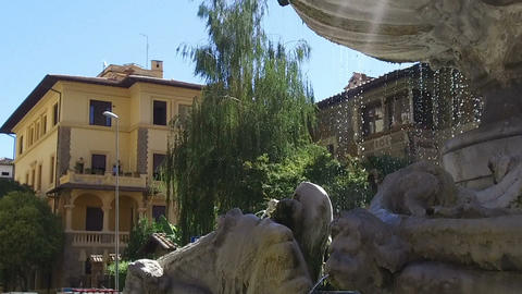 Fountain of the frogs in the famous Coppede district in Rome Footage
