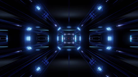futuristic science-fiction tunnel corridor 3d illustration vjloop background Animation