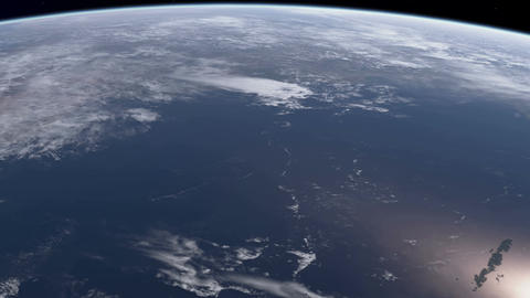 Earth from Orbit Animation