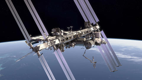 International Space Station Animation