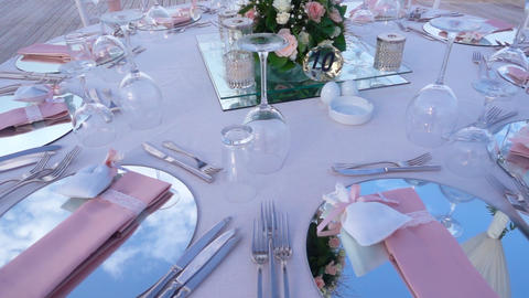 Wedding Table Close-Up Footage