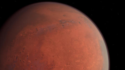 Mars planet in Space Animation