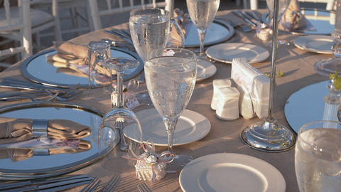 Wedding Table Close Up, Live Action