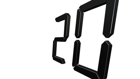 From 20 To 1 Countdown Loop GIF
