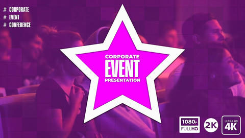 Corporate Event Presentation After Effects Template