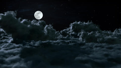 Above The Night Clouds Animation