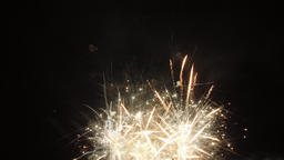 Multicolored Firework at Night. Powerful Fireworks Show on Holiday Celebration Footage
