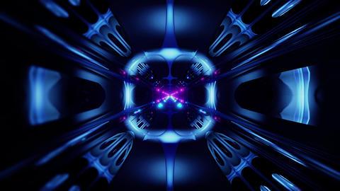 futuristic science-fiction alien style tunnel corridor 3d illustration vj loop Animation