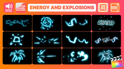 Energy And Explosion Elements Apple Motion Template