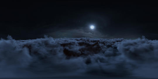 Night Clouds Panoramic 360 VR VR 360° Video