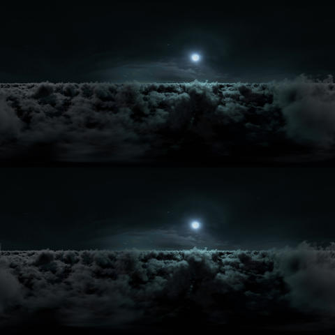 Night Clouds Stereoscopic Panoramic 360 VR VR 360° Video