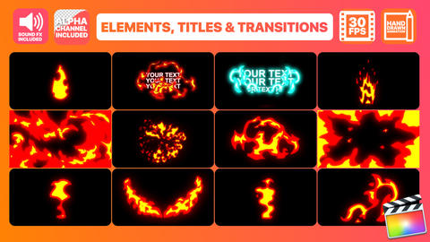 Fire Elements Titles And Transitions Apple Motion Template