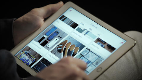 Close up of ebay's website on a ipad screen Live Action