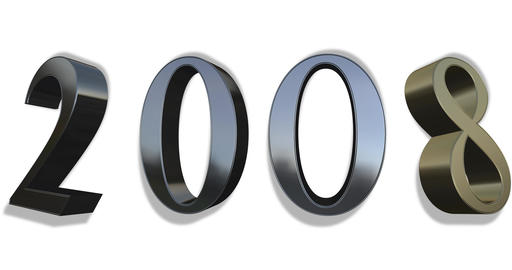 From 2000 To 2040 - Gold And Silver Numbers Live Action