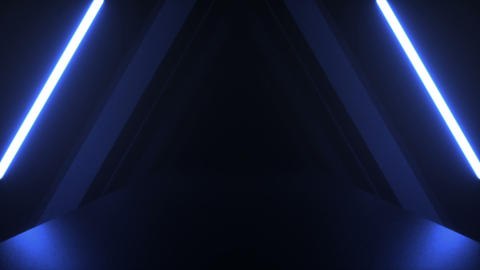 Dark tunnel blue Animation