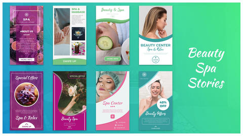 Beauty Spa Stories After Effects Template