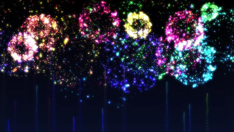 Fireworks bg loop 23 Animation