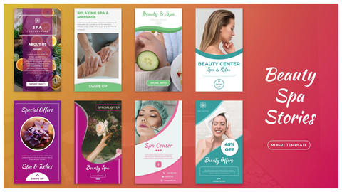 Beauty Spa Stories Motion Graphics Template