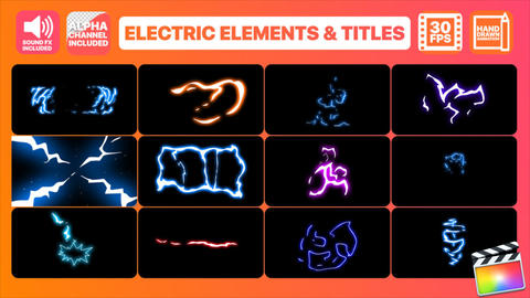 Flash FX Electric Elements Transitions And Titles Apple Motion Template