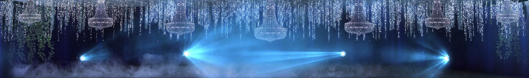 Low Fog And Chandeliers Animation