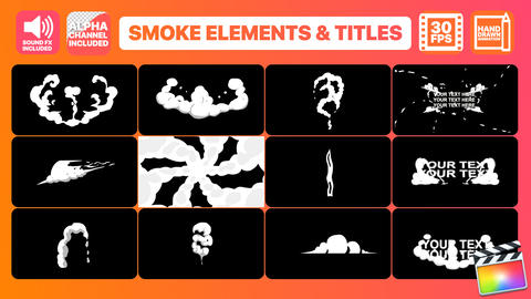 Hand Drawn Smoke Elements Transitions And Titles Apple Motionテンプレート