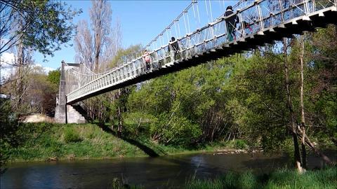 Pedestrian suspension bridge Live Action