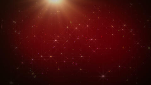 Abstract Red Sparkles Animation