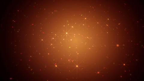 Abstract Orange Sparkles Animation