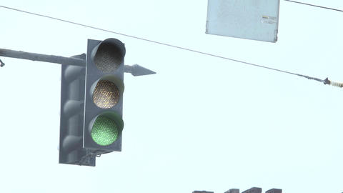 Not Working LED Traffic Light Footage