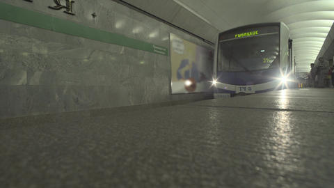 Subway Train Emerges From Tunnel Footage