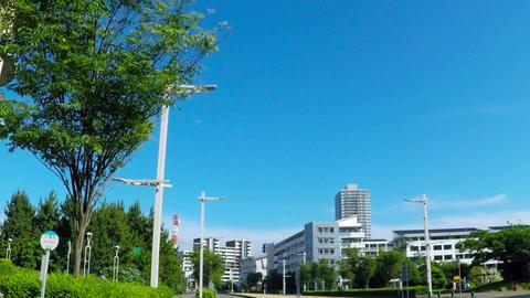 Run a residential area/海浜幕張付近。 Footage