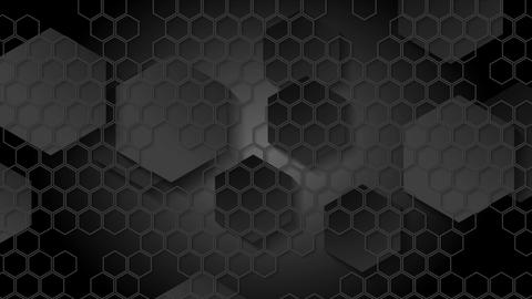 Black geometric video animation with hexagons Animation