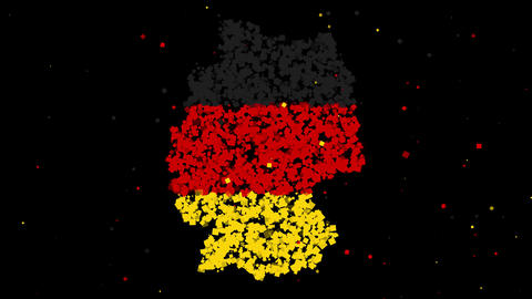 Map and flag of Germany Animation