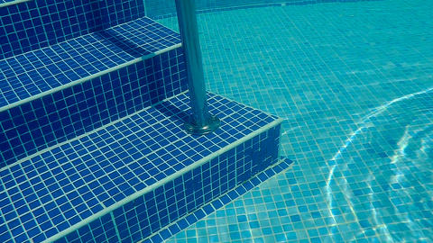 Underwater swimming pool staircase Footage
