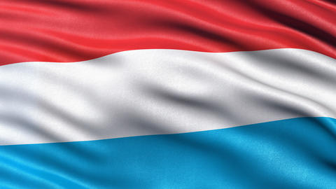 Luxembourg flag seamless loop Animation