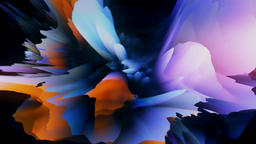 Surreal exotic multicolored flowing liquid loop Animation