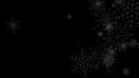 Abstract black falling snowflakes video animation Animation