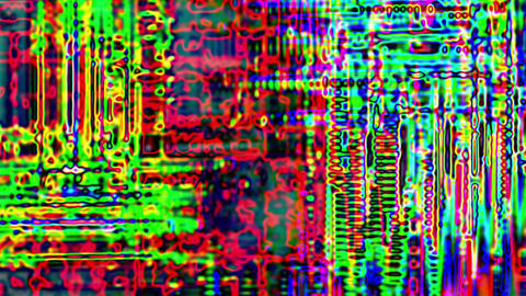 Data Storm Noise Waves Damage Distorted Abstract Background Animation